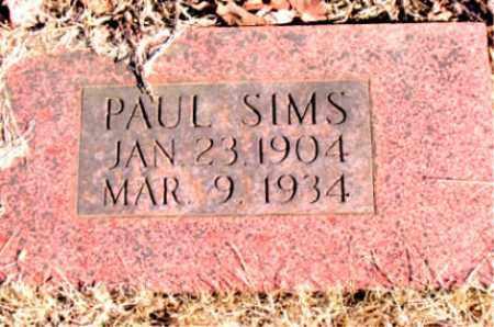 SIMS, PAUL - Newton County, Arkansas | PAUL SIMS - Arkansas Gravestone Photos