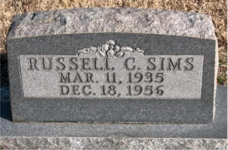SIMS, RUSSELL C. - Newton County, Arkansas | RUSSELL C. SIMS - Arkansas Gravestone Photos