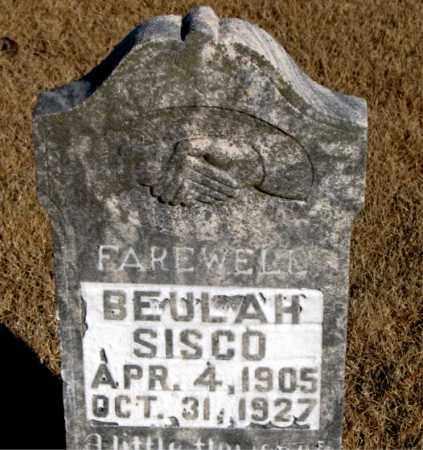 SISCO, BEULAH - Newton County, Arkansas   BEULAH SISCO - Arkansas Gravestone Photos