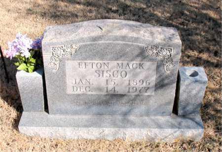 SISCO, EFTON MACK - Newton County, Arkansas   EFTON MACK SISCO - Arkansas Gravestone Photos