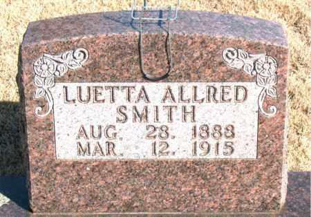 ALLRED SMITH, LUETTA - Newton County, Arkansas | LUETTA ALLRED SMITH - Arkansas Gravestone Photos