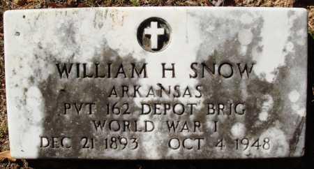 SNOW  (VETERAN WWI), WILLIAM H - Newton County, Arkansas | WILLIAM H SNOW  (VETERAN WWI) - Arkansas Gravestone Photos