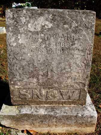 SNOW, J. HOWARD - Newton County, Arkansas | J. HOWARD SNOW - Arkansas Gravestone Photos