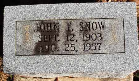 SNOW, JOHN F. - Newton County, Arkansas | JOHN F. SNOW - Arkansas Gravestone Photos