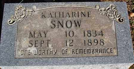 SNOW, KATHARINE - Newton County, Arkansas | KATHARINE SNOW - Arkansas Gravestone Photos