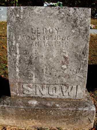 SNOW, LEROY - Newton County, Arkansas   LEROY SNOW - Arkansas Gravestone Photos