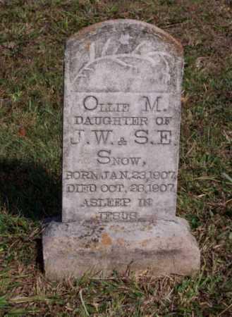 SNOW, OLLIE M. - Newton County, Arkansas   OLLIE M. SNOW - Arkansas Gravestone Photos