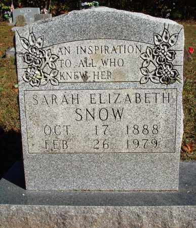 SNOW, SARAH ELIZABETH - Newton County, Arkansas | SARAH ELIZABETH SNOW - Arkansas Gravestone Photos