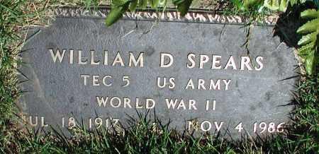 SPEARS (VETERAN WWII), WILLIAM D - Newton County, Arkansas | WILLIAM D SPEARS (VETERAN WWII) - Arkansas Gravestone Photos