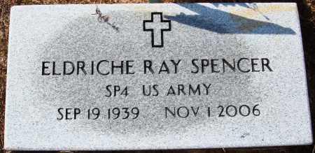 SPENCER  (VETERAN), ELDRICHE RAY - Newton County, Arkansas   ELDRICHE RAY SPENCER  (VETERAN) - Arkansas Gravestone Photos