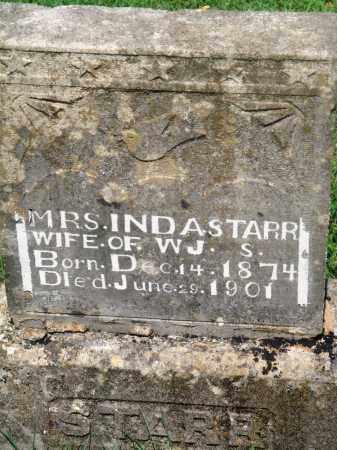 "STARR, INDIA ""INDA"" - Newton County, Arkansas | INDIA ""INDA"" STARR - Arkansas Gravestone Photos"