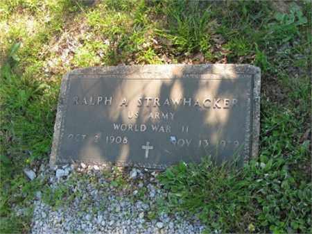 STRAWHACKER (VETERAN), RALPH A - Newton County, Arkansas | RALPH A STRAWHACKER (VETERAN) - Arkansas Gravestone Photos