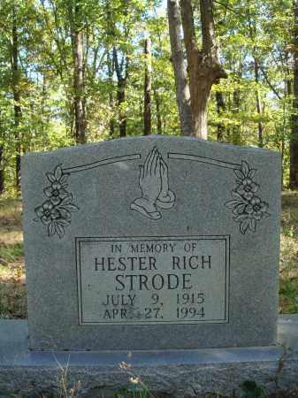 STRODE, HESTER - Newton County, Arkansas   HESTER STRODE - Arkansas Gravestone Photos