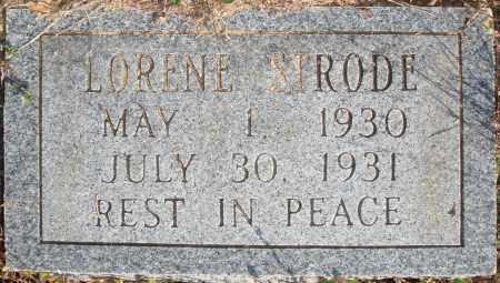 STRODE, LORENE - Newton County, Arkansas   LORENE STRODE - Arkansas Gravestone Photos