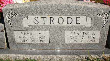 STRODE, CLAUDE A. - Newton County, Arkansas | CLAUDE A. STRODE - Arkansas Gravestone Photos