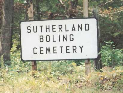 *SUTHERLAND-BOLING CEMETERY,  - Newton County, Arkansas    *SUTHERLAND-BOLING CEMETERY - Arkansas Gravestone Photos