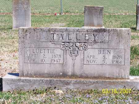 MARTIN TALLEY, LUETTIE - Newton County, Arkansas | LUETTIE MARTIN TALLEY - Arkansas Gravestone Photos