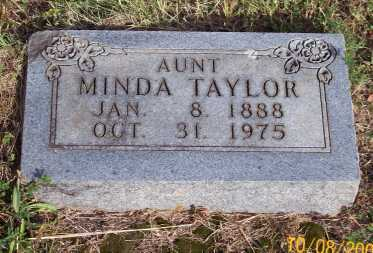 TAYLOR, MINDA - Newton County, Arkansas | MINDA TAYLOR - Arkansas Gravestone Photos