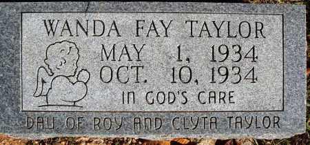 TAYLOR, WANDA FAY - Newton County, Arkansas   WANDA FAY TAYLOR - Arkansas Gravestone Photos