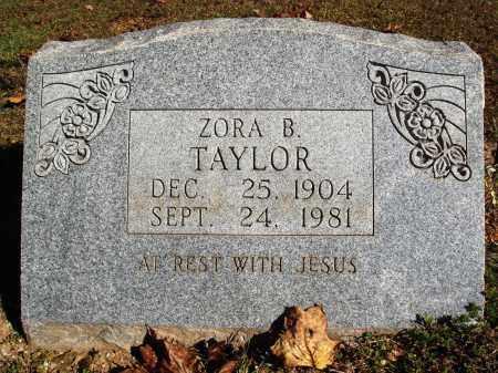 TAYLOR, ZORA B. - Newton County, Arkansas | ZORA B. TAYLOR - Arkansas Gravestone Photos