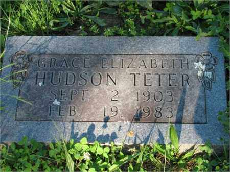 TETER, GRACE ELIZABETH - Newton County, Arkansas | GRACE ELIZABETH TETER - Arkansas Gravestone Photos
