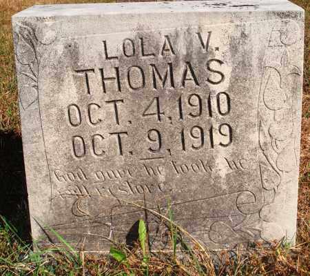 THOMAS, LOLA V. - Newton County, Arkansas   LOLA V. THOMAS - Arkansas Gravestone Photos
