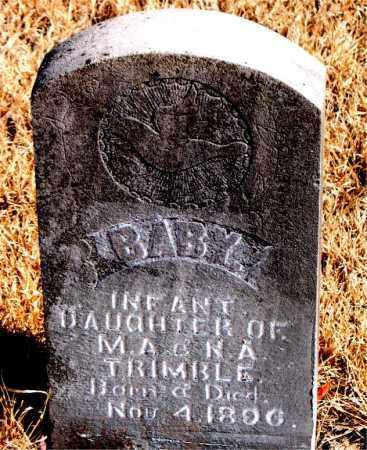 TRIMBLE, INFANT DAUGHTER - Newton County, Arkansas   INFANT DAUGHTER TRIMBLE - Arkansas Gravestone Photos