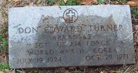TURNER (VETERAN 2 WARS), DON EDWARD - Newton County, Arkansas   DON EDWARD TURNER (VETERAN 2 WARS) - Arkansas Gravestone Photos