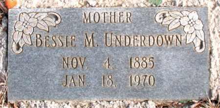 UNDERDOWN, BESSIE M. - Newton County, Arkansas | BESSIE M. UNDERDOWN - Arkansas Gravestone Photos