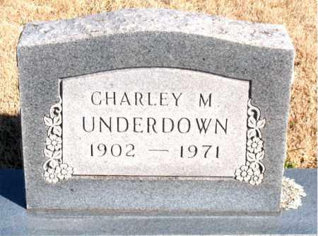 UNDERDOWN, CHARLEY M. - Newton County, Arkansas   CHARLEY M. UNDERDOWN - Arkansas Gravestone Photos