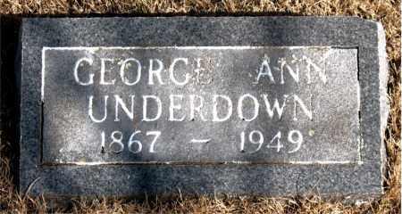 UNDERDOWN, GEORGE ANN - Newton County, Arkansas   GEORGE ANN UNDERDOWN - Arkansas Gravestone Photos