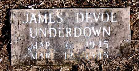 UNDERDOWN, JAMES DEVOE - Newton County, Arkansas | JAMES DEVOE UNDERDOWN - Arkansas Gravestone Photos