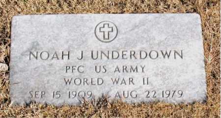UNDERDOWN  (VETERAN WWII), NOAH J - Newton County, Arkansas   NOAH J UNDERDOWN  (VETERAN WWII) - Arkansas Gravestone Photos