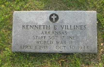 VILLINES  (VETERAN WWII), KENNETH EUGENE - Newton County, Arkansas | KENNETH EUGENE VILLINES  (VETERAN WWII) - Arkansas Gravestone Photos