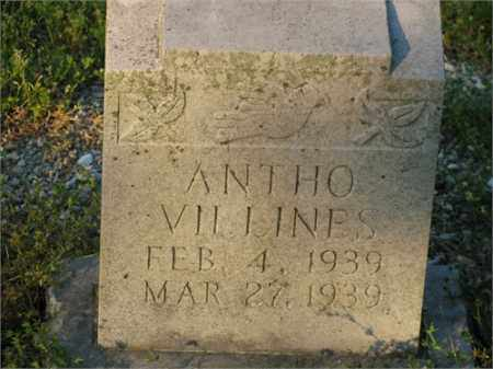 VILLINES, ANTHO - Newton County, Arkansas | ANTHO VILLINES - Arkansas Gravestone Photos