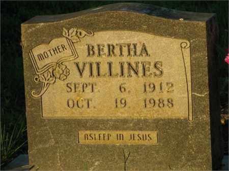 VILLINES, BERTHA - Newton County, Arkansas   BERTHA VILLINES - Arkansas Gravestone Photos
