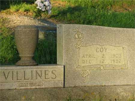 VILLINES, COY - Newton County, Arkansas | COY VILLINES - Arkansas Gravestone Photos