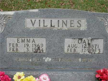VILLINES, CAL - Newton County, Arkansas | CAL VILLINES - Arkansas Gravestone Photos