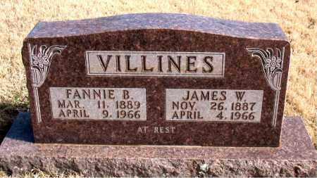 VILLINES, JAMES W. - Newton County, Arkansas   JAMES W. VILLINES - Arkansas Gravestone Photos