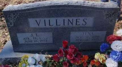 VILLINES, LENA - Newton County, Arkansas | LENA VILLINES - Arkansas Gravestone Photos