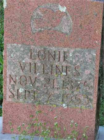 VILLINES, LONIE - Newton County, Arkansas   LONIE VILLINES - Arkansas Gravestone Photos