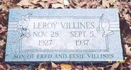 VILLINES, LEROY - Newton County, Arkansas | LEROY VILLINES - Arkansas Gravestone Photos