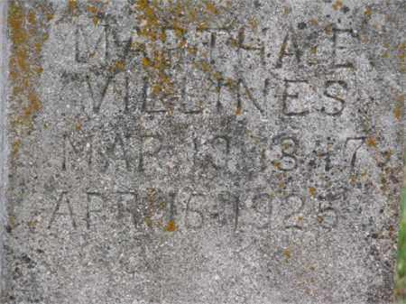 CURNETT VILLINES, MARTHA E. - Newton County, Arkansas | MARTHA E. CURNETT VILLINES - Arkansas Gravestone Photos