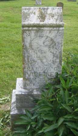 VILLINES, MATILDA C. - Newton County, Arkansas | MATILDA C. VILLINES - Arkansas Gravestone Photos