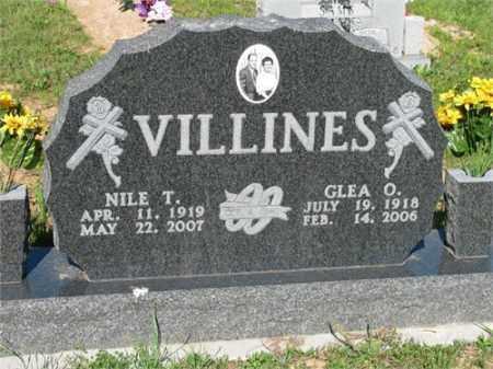 VILLINES, GLEA O. - Newton County, Arkansas | GLEA O. VILLINES - Arkansas Gravestone Photos