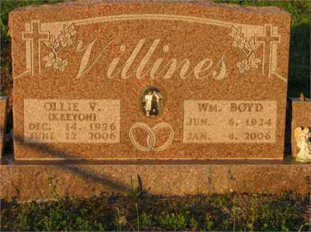 VILLINES, OLLIE V. - Newton County, Arkansas | OLLIE V. VILLINES - Arkansas Gravestone Photos