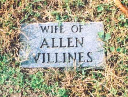 VILLINES, UNKNOWN WIFE - Newton County, Arkansas   UNKNOWN WIFE VILLINES - Arkansas Gravestone Photos
