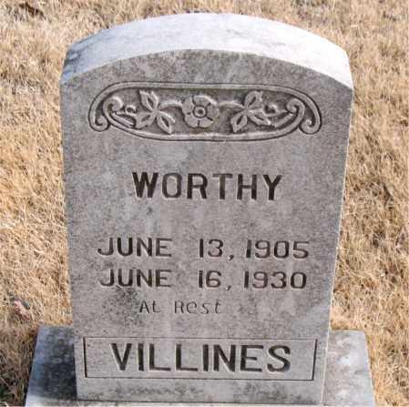 VILLINES, WORTHY - Newton County, Arkansas | WORTHY VILLINES - Arkansas Gravestone Photos
