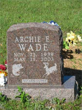 WADE, ARCHIE E. - Newton County, Arkansas | ARCHIE E. WADE - Arkansas Gravestone Photos