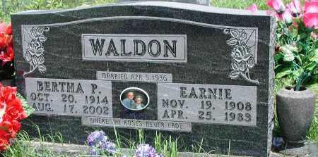 WALDON, EARNIE - Newton County, Arkansas | EARNIE WALDON - Arkansas Gravestone Photos